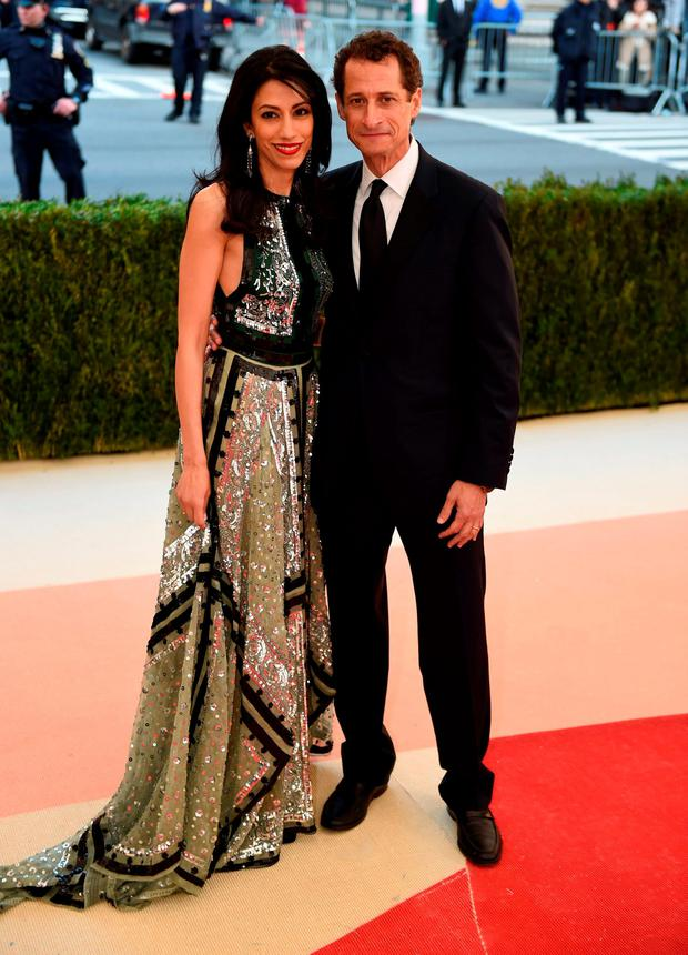 Anthony Weiner and his wife Huma Abedin. Photo: Getty Images