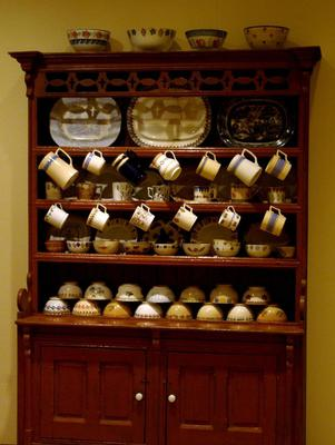 Rustic: Irish country furniture examples include a dresser