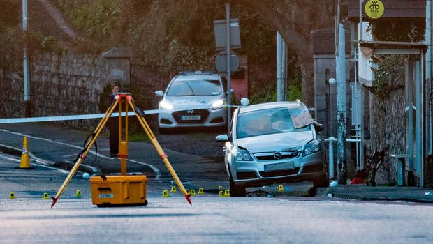 The scene where a cyclist died after a collision with a car on Conyngham Road in Dublin Picture: Arthur Carron