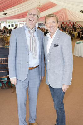 Rory Cowan & Alan Hughes pictured at the Dubai Duty Free Irish Derby at the Curragh Racecourse on Saturday 28th June. Photo: Anthony Woods
