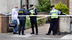 Gardaí at the scene of the fatal shooting in Ballyfermot. Photo by Steve Humphreys - 27th July 2020