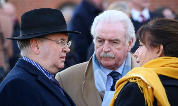 Joe Duffy and Marty Whelan with Eileen Doyle. Photo: Gerry Mooney