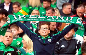 Republic of Ireland fans in the stands