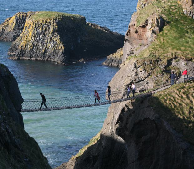 The rope bridge at Carrick-a-Rede in North Antrim.