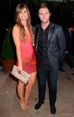 Brian McFadden & Vogue Williams arrive at the Marie Keating Foundation celebrity golf classic dinner in 2011