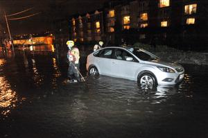 Cork City Fire Brigade pictured on a flooded Wandesford Quay, Cork city. Pic Daragh Mc Sweeney/Provision