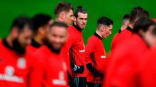 Gareth Bale during a Wales Open Training session ahead of their World Cup Qualifier against the Republic of Ireland on Friday