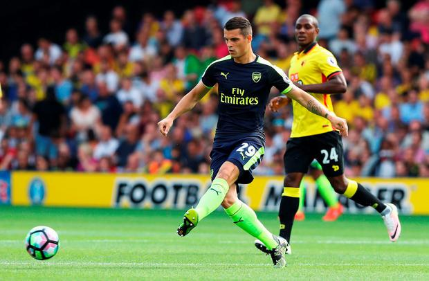 Granit Xhaka of Arsenal in action. Photo: Getty