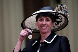 Metropolitan Police Detective Chief Inspector Caroline Goode after she received the Queen's Police Medal (Steve Parsons/PA)