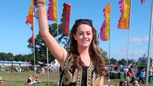 Irish Independent journalist, Freya Drohan, pictured on the final day of the Electric Picnic Music Festival