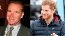 James Hewitt, left, and Prince Harry, right