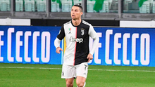 Ronaldo celebrating in an empty stadium as Juventus beat Inter Milan before football in Italy was suspended. Photo: Getty Images