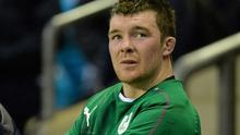 Ireland's Peter O'Mahony played through the pain barrier against England