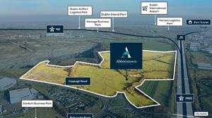 Hot spot: The Abbottstown Business Park lands are located between the N2 and N3 corridors and have the benefit of 600 metres of frontage on to Dublin's M50 motorway