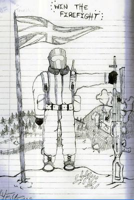 A drawing taken from Ryan McGee's sketch book. Photo: Greater Manchester Police/PA