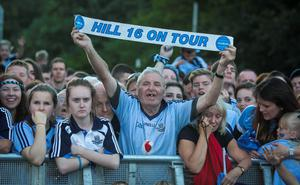 Dublin fans in Merrion Square during arrival celebrations of the Dublin GAA team