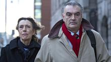 Ian Bailey (57), with his partner, Jules Thomas, leaving the High Court yesterday PIC: Courtpix
