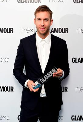 Calvin Harris with his Man Of The Year award at the Glamour Women of the Year Awards 2015