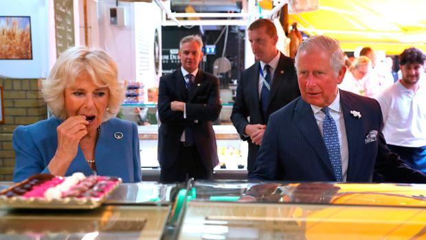 The Prince of Wales and the Duchess of Cornwall during a visit to the English Market in Cork as part of their tour of the Republic of  Ireland