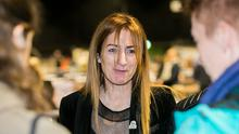 European candidate Clare Daly TD during the European Election count in the RDS, Dublin  Photo: Gareth Chaney, Collins