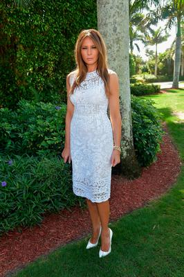 Melania Trump attends Trump Invitational Grand Prix Mar-a-Lago Club at The Mar-a-Largo Club on January 4, 2015 in Palm Beach, Florida.  (Photo by Gustavo Caballero/Getty Images)