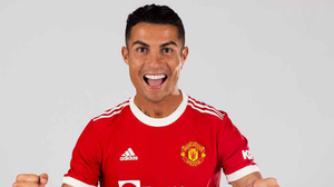 Cristiano Ronaldo is pictured once again in a Manchester United shirt. Photo: ManUtd.com