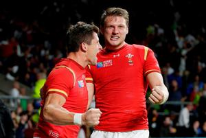 Dan Biggar and Lloyd Williams of Wales celebrate victory Action Images via Reuters / Henry Browne Livepic