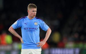 File photo dated 21-01-2020 of Manchester City's Kevin De Bruyne. PA Photo. Issue date: Saturday June 27, 2020. Kevin De Bruyne claims Manchester City will not dwell on losing the Premier League in what could still be an unbelievable season. See PA story SOCCER Man Cit. Photo credit should read Mike Egerton/PA Wire.