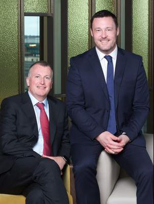 Michael McAteer, managing partner at Grant Thornton Ireland, and Vic Angley