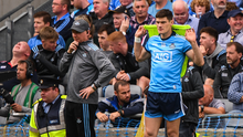 Dublin manager Jim Gavin and Diarmuid Connolly during the GAA Football All-Ireland Senior Championship Final match between Dublin and Kerry at Croke Park in Dublin. Photo by Stephen McCarthy/Sportsfile