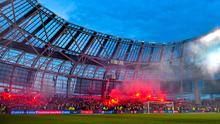 The Polish fans were in full voice when Slawomir Peszko gave the visitors the lead last night