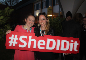 Social Media Editor Clare Cullen and Girl Crew founder Elva Carri at the Web Summit