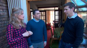Dermot Bannon with Leonard and Caroline Cullen in the finale of Room to Improve