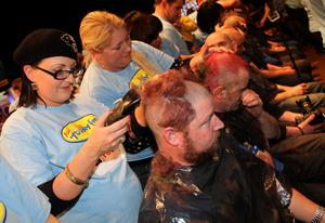 The multi award winning, multi million euro making, multi record breaking Shave or Dye today set its 5th world record in a row for 'The Most Heads Shaved Simultaneously.   Pictures Declan Masterson Photography