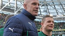 Ireland captain Paul O'Connell, left, and Brian O'Driscoll after their side's victory