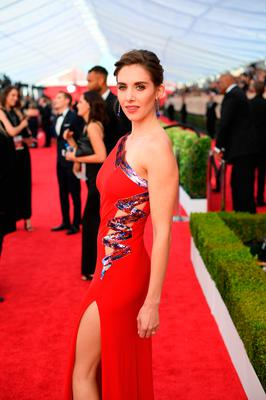 Alison Brie attends the 24th Annual Screen Actors Guild Awards at The Shrine Auditorium on January 21, 2018 in Los Angeles, California. 27522_009  (Photo by Dimitrios Kambouris/Getty Images for Turner Image)