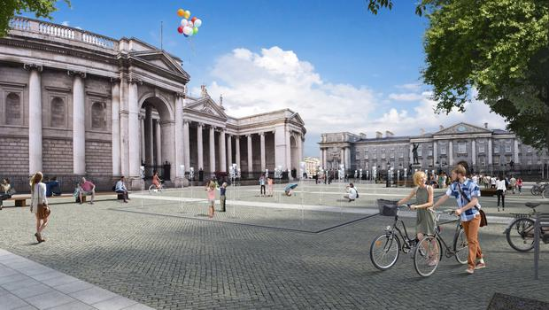 An artist's impression of the design for the College Green plaza. Photo: PA