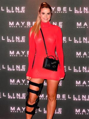 Vogue Williams attends Maybelline's Bring On The Night Party on February 18, 2017 in London, United Kingdom  (Photo by Jeff Spicer/Getty Images)