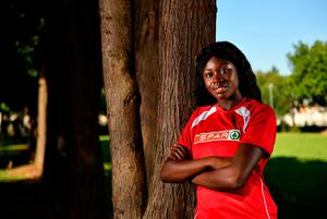 """SPAR ambassador and Irish international athlete Rhasidat Adeleke: """"If I do decide to go the US I'm not sure I would be able to begin this fall. My other option is to start in January which would be a pretty tough way to begin a new regime"""". Photo by Eóin Noonan/Sportsfile"""