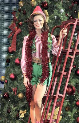 Actress-  Love/ Hate's Aoibhinn McGinnity pictured  prior to Elf the musicals  European Premiere at The Bord Gais Energy Theatre ,Dublin.