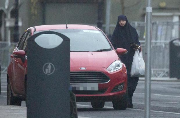 Out: Lisa Smith with her groceries after signing on at a Garda station. Photo: Colin Keegan, Collins Dublin