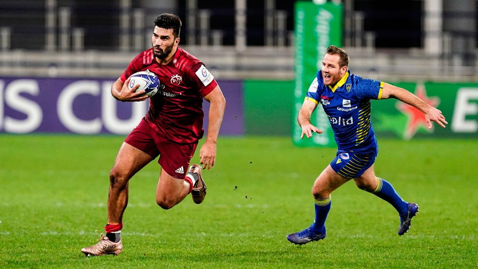 Damian de Allende of Munster during the Heineken Champions Cup Pool B win over Clermont Auvergne at Stade Marcel-Michelin in Clermont-Ferrand, France. Photo: Julien Poupart/Sportsfile