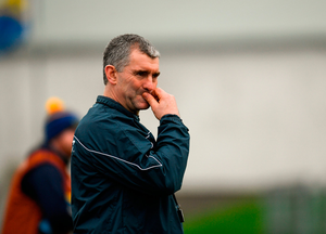 Liam Sheedy is back at the helm of Tipp who tomorrow bid to secure the first trophy of the season at the expense of Clare. Photo: Sportsfile