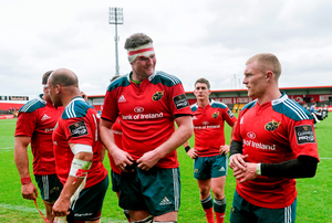 Munster's Donnacha Ryan, left, and Keith Earls