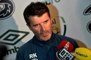Ireland assistant manager Roy Keane talking to the media at the Aviva Stadium, Dublin yesterday