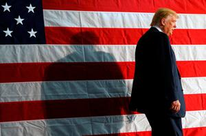 'Donald Trump has played on voters' fears, insecurities and disaffections with government generally to run one of the most toxic, dishonest and dangerous political campaigns in history to bring himself and his moronic nonsense to the brink of the US presidency' Photo: REUTERS / Jonathan Ernst