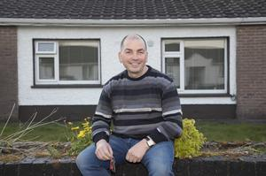 Paddy Phelan outside his new one-bed maisonette in Co Laois Photo: Michael Donnelly