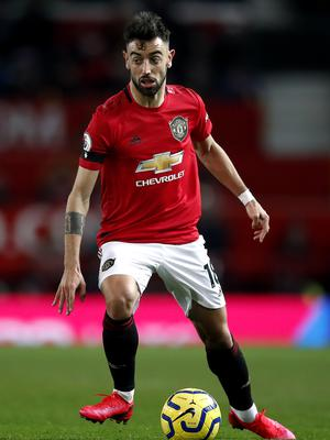Bruno Fernandes was heavily involved on his Manchester United debut (Martin Rickett/PA).