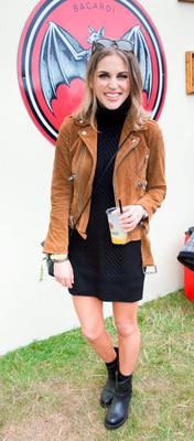 Amy Huberman enjoying CASA BACARDI at Electric Picnic in 2015