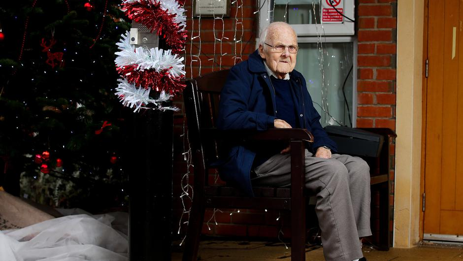 OPTIMISTIC: 100-year-old Tom Ferrett at Palmerston Residential Home. Photo: Jonathan Porter/PressEye